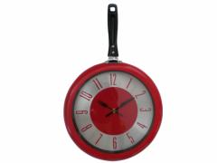 Часы-сковорода кухонные, Red