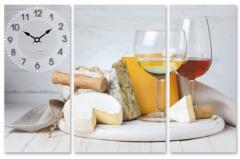 """Часы настенные """"Белое вино"""" на холсте"""