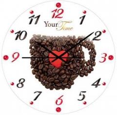 """Часы стеклянные Your time """"Кофейная чашка"""""""