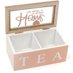 Коробка для хранения сладостей или чая на 2 секции