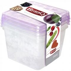 Набор емкостей для хранения и заморозки Rukkola BranQ 3 шт.