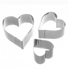 Набор форм сердце 3 шт.