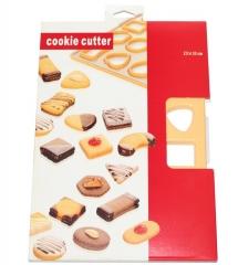 Форма лист для вырубки печенья 33 х 23 см