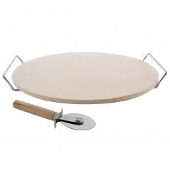 Камень для выпечки пиццы с подставкой и ножом Orion