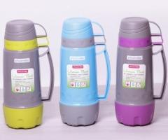 Термос Kamille 1000 мл + 2 чашки