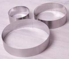 Набор 3 круглые формы 10 см, 15 см, 20 см