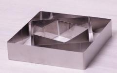 Набор 3 квадратные формы гарнира 10 см, 15 см, 20 см