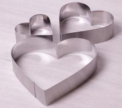 """Набор 3 формы """"Сердце"""" 10 см, 15 см, 20 см"""