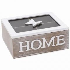 Коробка для хранения сладостей или чая на 4 секции