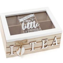 Коробка для хранения сладостей или чая на  секций 24 х 16 см
