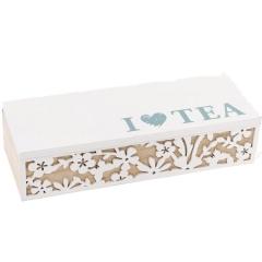 Коробка для хранения сладостей или чая на 3 секции 24 х 9
