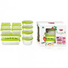 Набор пищевых емкостей для хранения и заморозки BranQ Rukkola 10 шт.