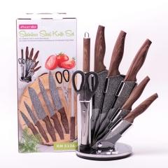 Набор ножей и ножницы на акриловой подставке, 8 предметов