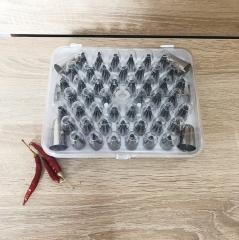Набор насадок для кондитерских мешков, 52 шт