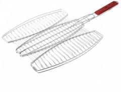 Решетка-гриль для рыбы тройная 400 х 370 мм