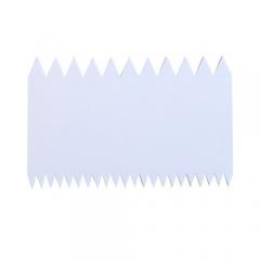 Шпатель кондитерский двухсторонний зубчатый, 145 х 90 мм