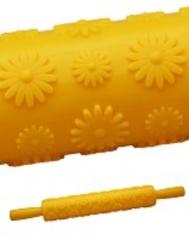 Скалка текстурная (ромашки)