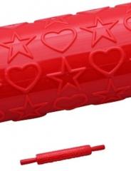 Скалка текстурная (звезды и сердечки)