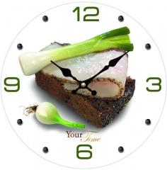 """Часы стеклянные """"Закуска"""""""