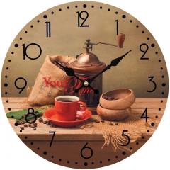 """Часы стеклянные """"Кофемолка"""""""