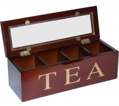 Коробка для хранения чая, 4 секций