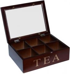 Коробка для хранения чая, 6 секций